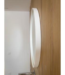 Biele okrúhle zrkadlo