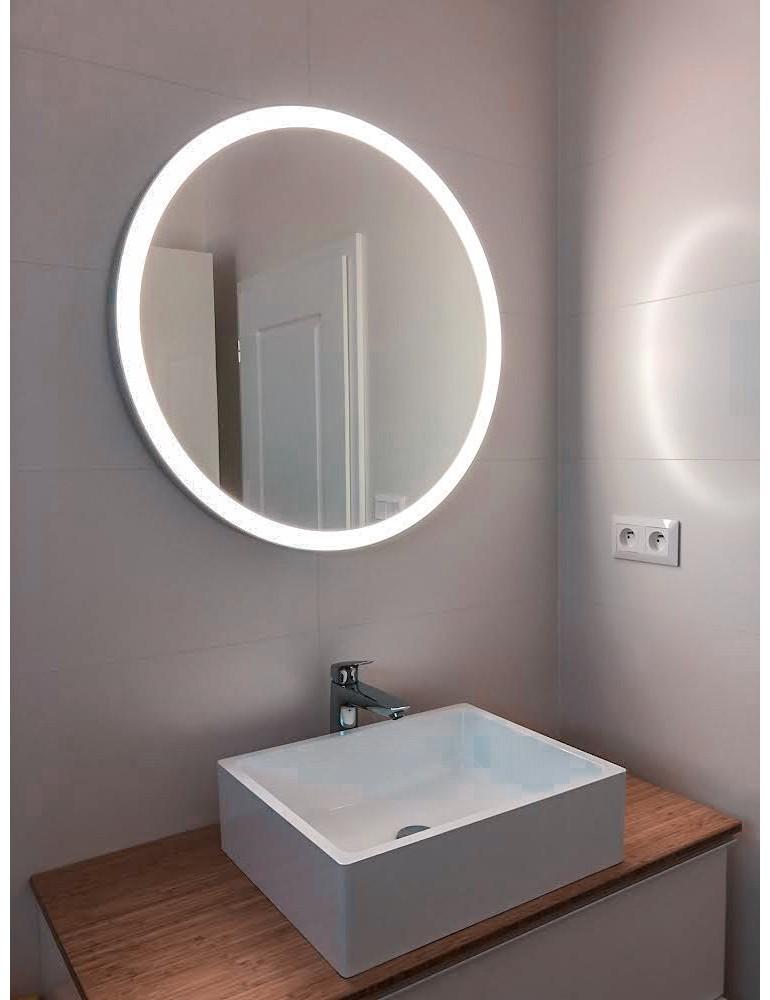 Okrúhle zrkadlo s integrovaným svietením - KOVOVÉ FARBY RÁMU
