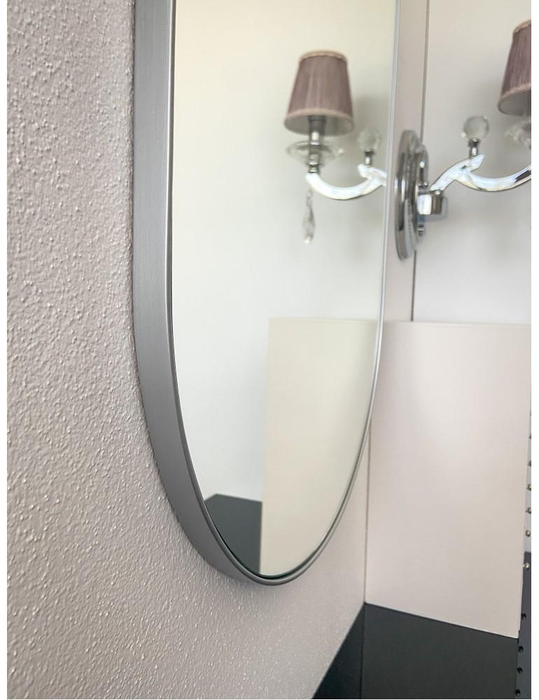 Strieborné okrúhle zrkadlo