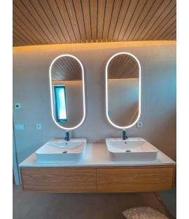 Oválne zrkadlá s integrovaným svietením