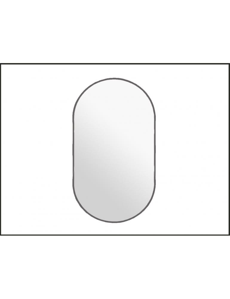 Biele oválne zrkadlo s podsvietením