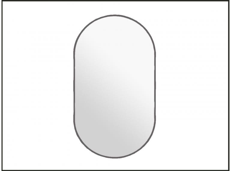 Mosadzné oválne zrkadlo s podsvietením