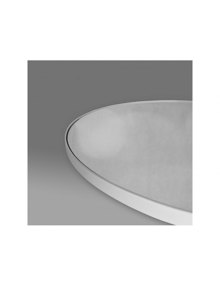 Biele oválne zrkadlo