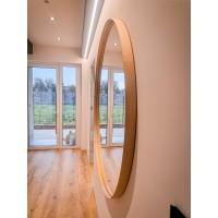 Dubové okrúhle zrkadlo
