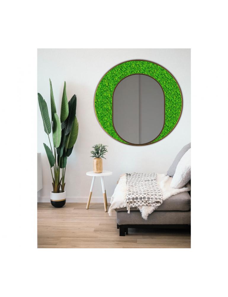 Machové zrkadlo ICONIC LUX Lišajník Green