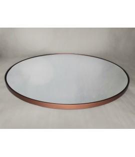 Medené okrúhle zrkadlo s podsvietením