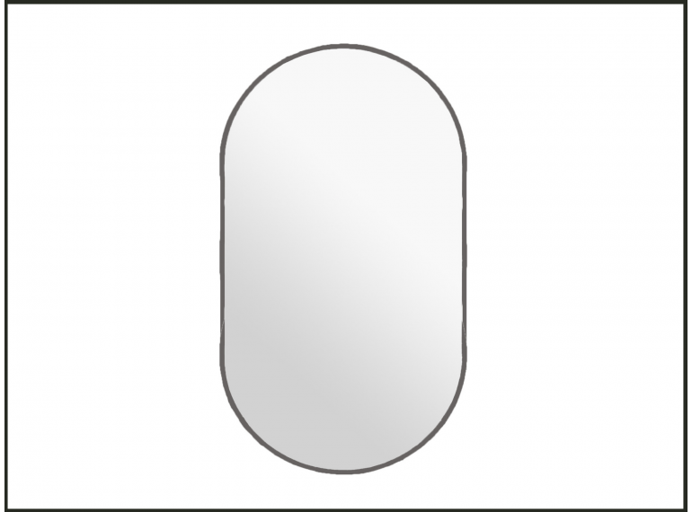 Medené oválne zrkadlo s podsvietením