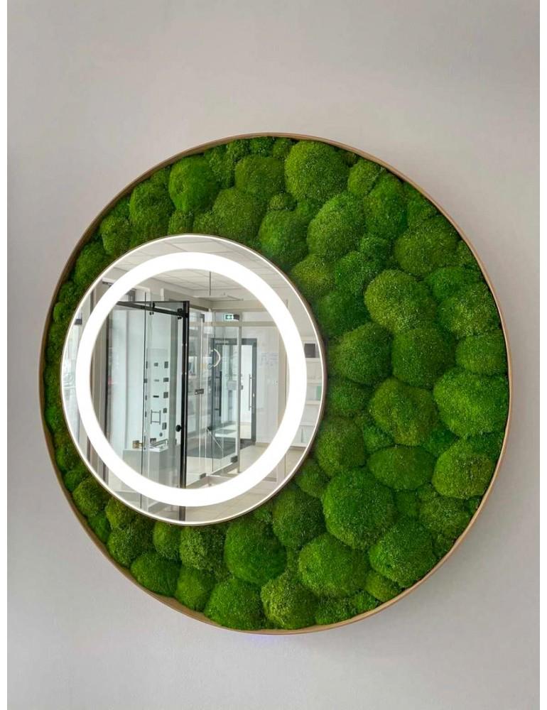 Machové zrkadlo ICONIC Bolmoss s integrovaným svietením