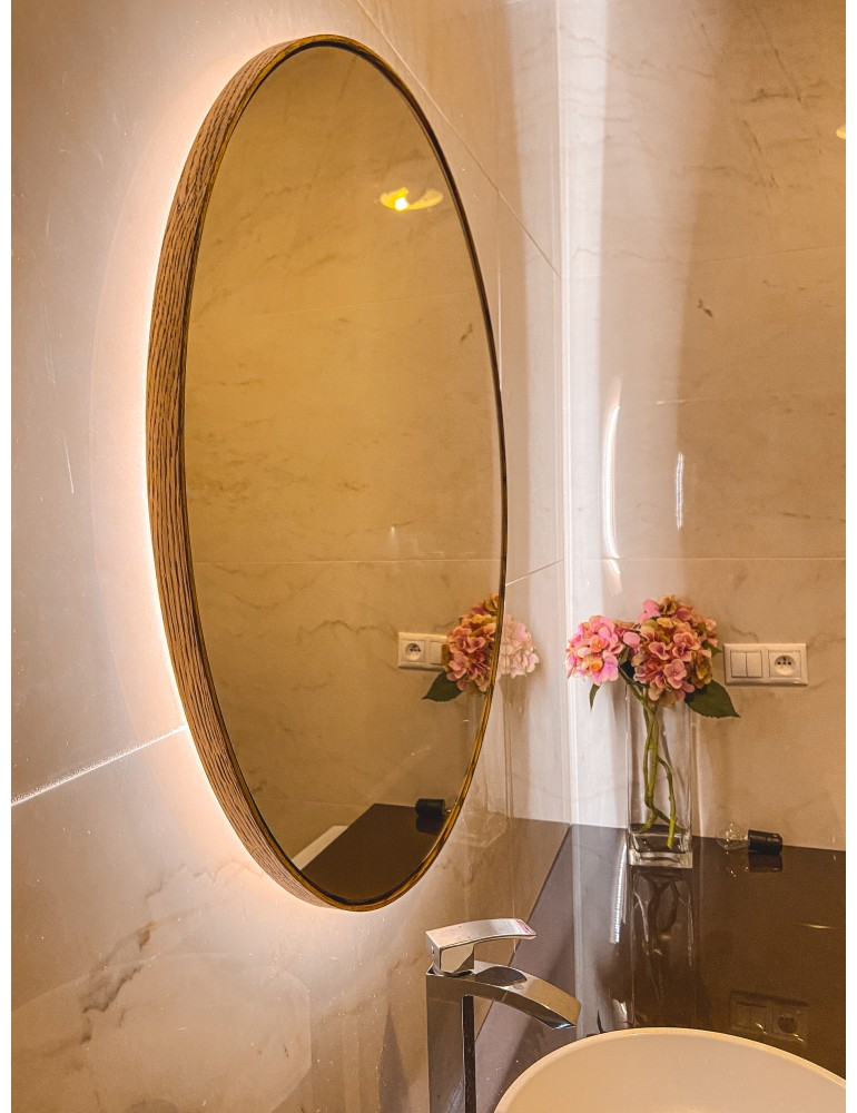 Dub Rusticana okrúhle zrkadlo s podsvietením