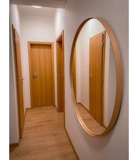 Bukové okrúhle zrkadlo