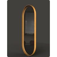 Dubové oválne zrkadlo s podsvietením
