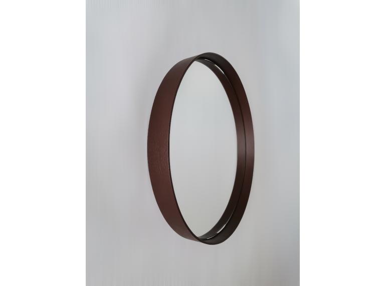 Tmavohnedé okrúhle zrkadlo