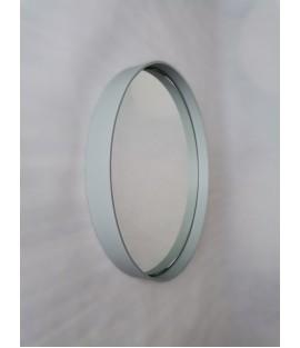 Pastelovo sivé okrúhle zrkadlo