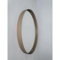 Béžové okrúhle zrkadlo