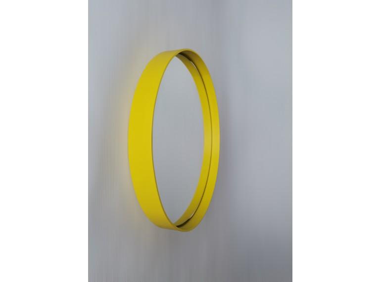 Žlté okrúhle zrkadlo