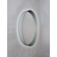 Pastelovo sivé okrúhle zrkadlo s podsvietením