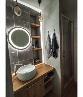 Okrúhle zrkadlo s integrovaným svietením a podsvietením - DREVODEKORY