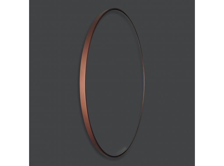 Medené okrúhle zrkadlo