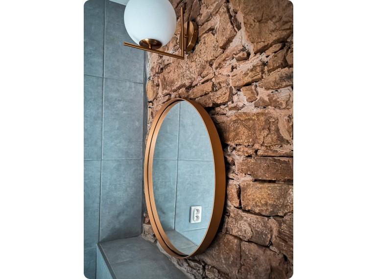 Mosadzné okrúhle zrkadlo