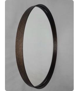 Orechové okrúhle zrkadlo