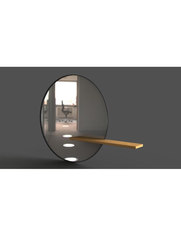 Okrúhle zrkadlo s policou